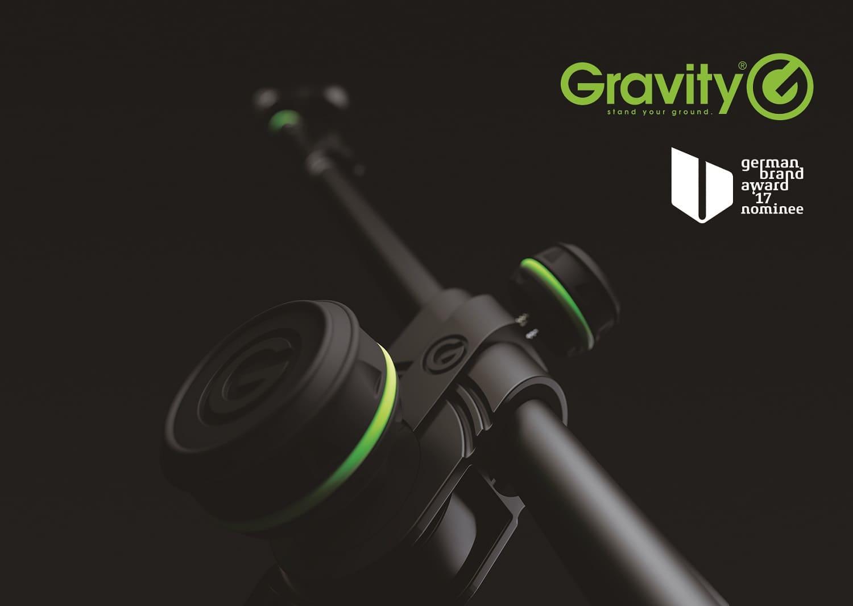 soportes y accesorios Gravity nominada al premio German Brand Award