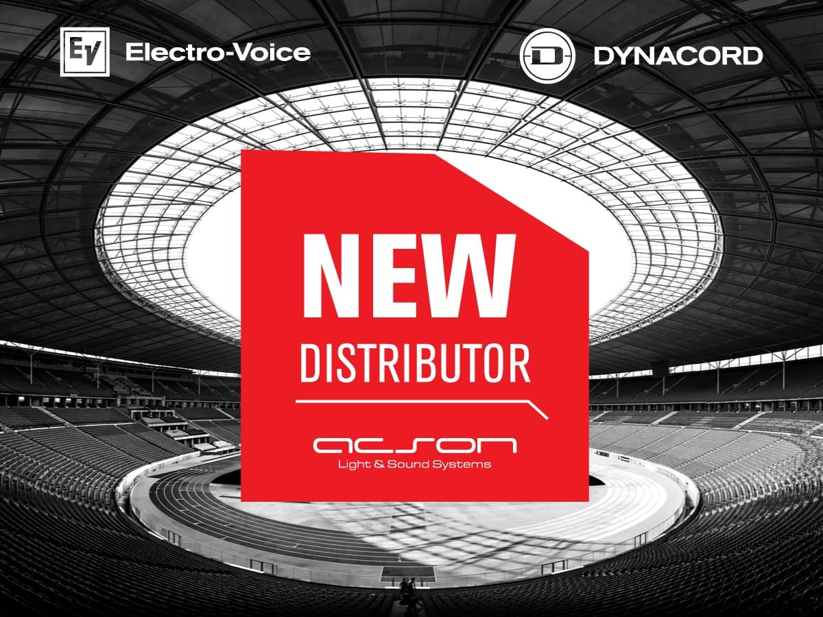 Electro-voice y Dynacord, Acson Comercial crece como nuevo distribuidor