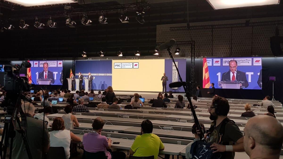 Eikonos en el International Press and Broadcasting Center para la jornada del 1 O