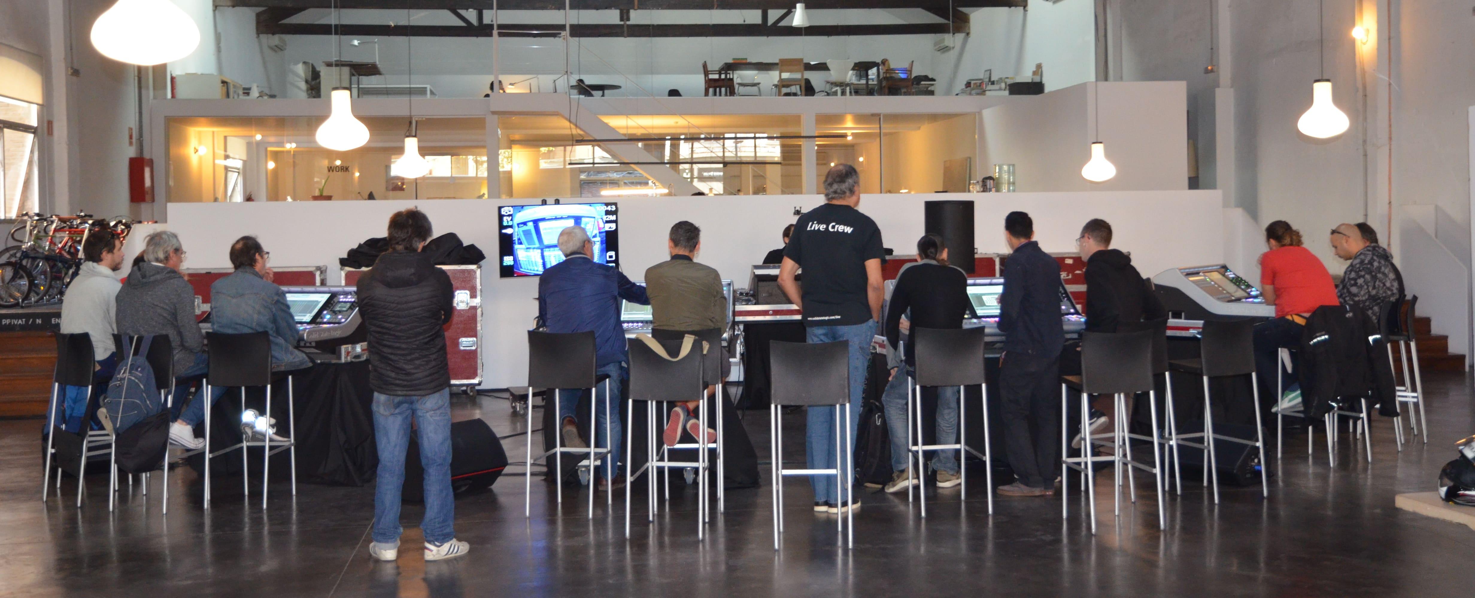 mesas SSL Live 500 Training workshop en Barcelona