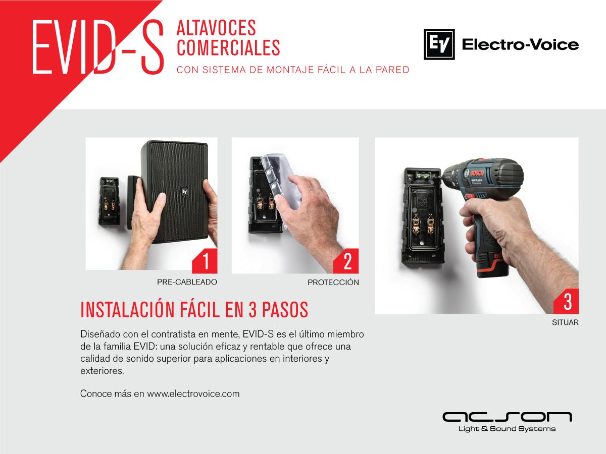 Altavoces comerciales y altavoces profesionales Electro-Voice EVID