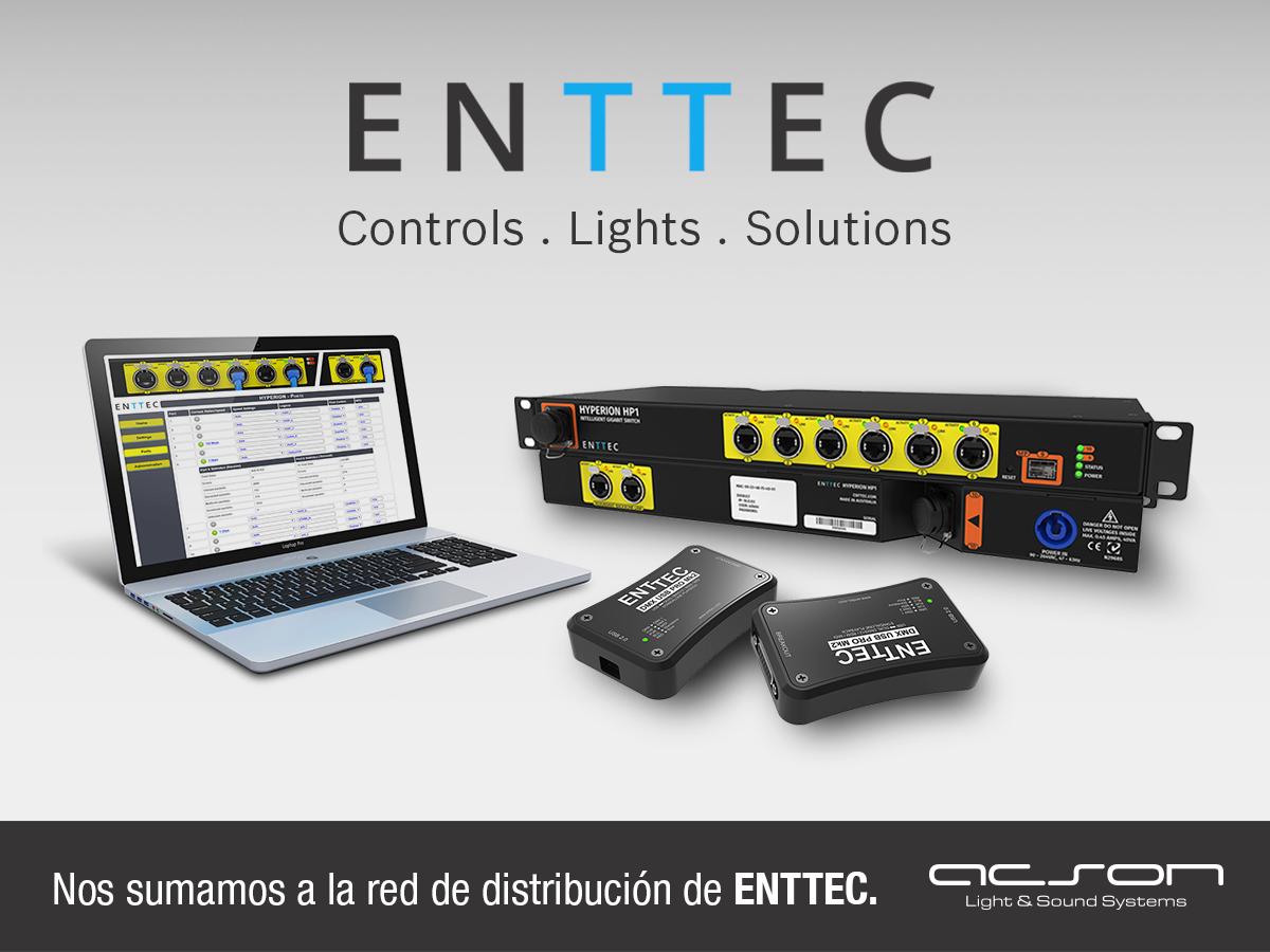 Acson nuevo distribudor de la marca de iluminación espectacular ENTTEC