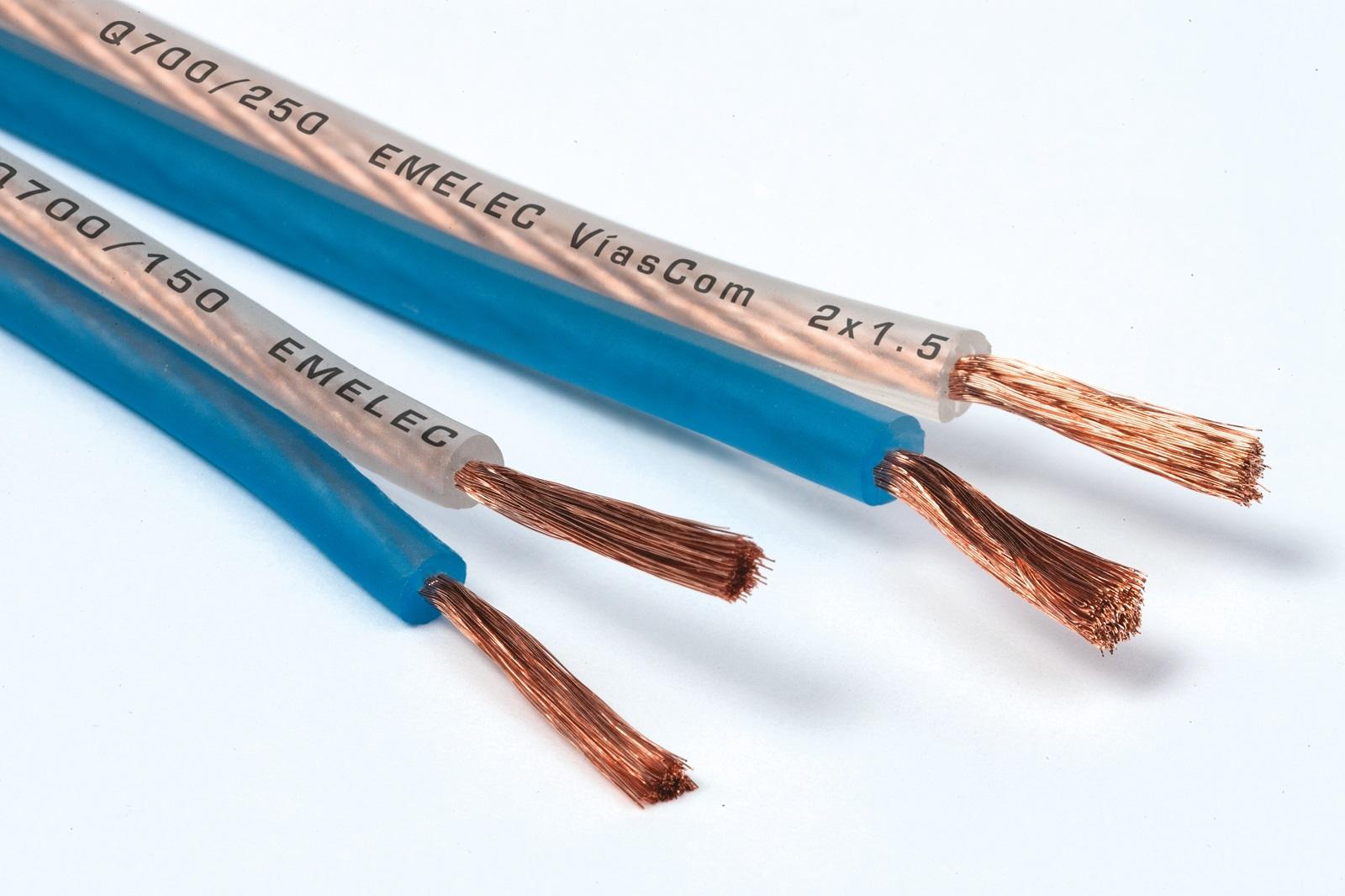 cables de Altavoz Transparentes Efecto Frosted