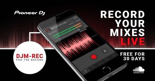 aplicación para grabación de mezclas DJM-REC para iOS