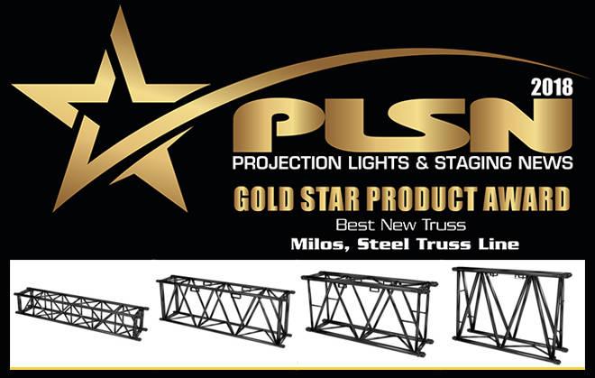 El truss de acero de MILOS premio al product Gold Star