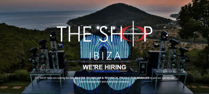 Master Technical o un Technical Production Manager, Shop Ibiza