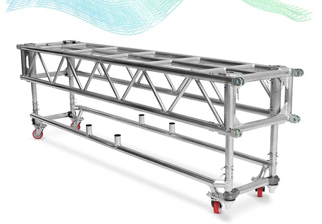 De gira con la estructura de truss truss pre-rig de LITEC PR60