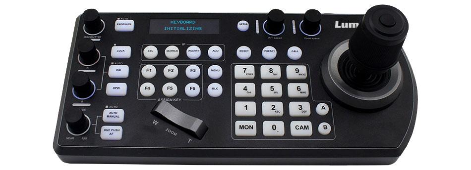 Controlador de cámaras PTZ VS-KB30 de Lumens