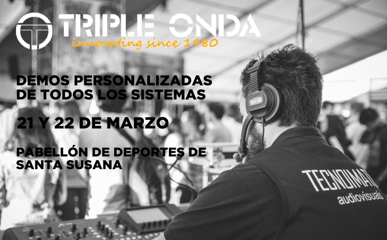 Demo equipos de sonido profesional de la marca Triple Onda