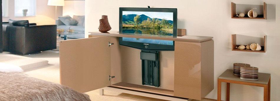 soportes audiovisuales motorizados