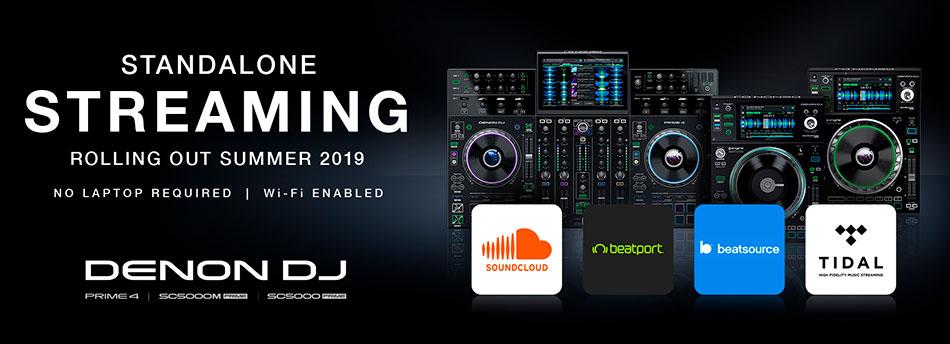 streaming de música en los equipos PRIME de DENON DJ