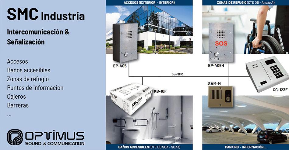 Soluciones de intercomunicación y señalización para edificios