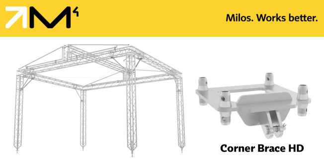 Soporte de esquina de truss de MILOS, construcción rápida del techo