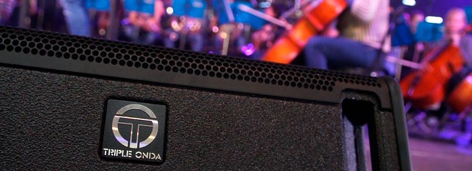 instalación de sonido profesional Triple Onda