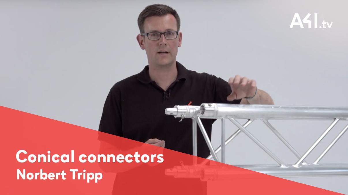 Conector cónico para estructuras de truss, ahora puedes verlo en video!