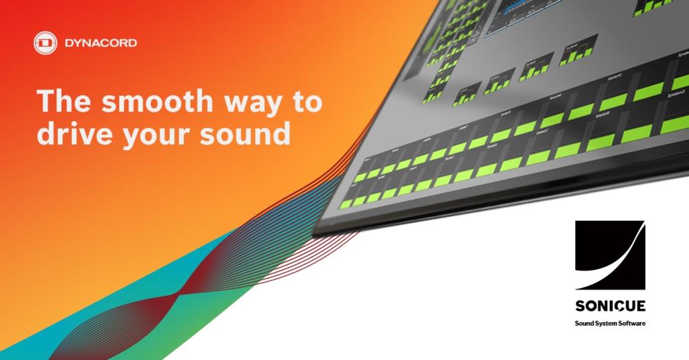Dynacord SONICUE software de gestión de equipo de sonido para directo