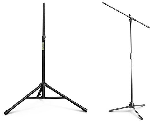 soportes para micrófonos serie Touring de Gravity