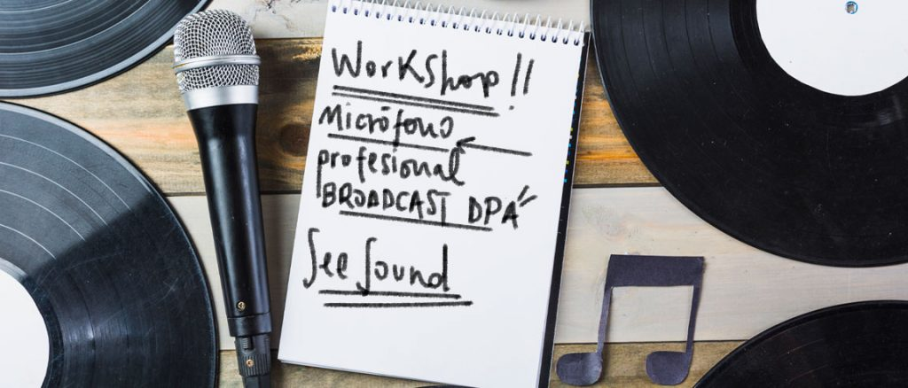 Workshop de micrófonos broadcast