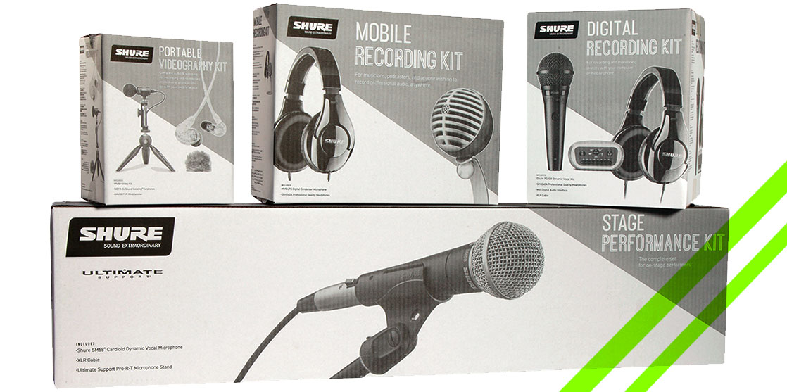 bundles de audio de Shure