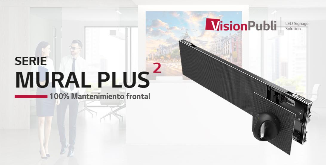 Serie de Pantallas LED Interior Mural Plus2