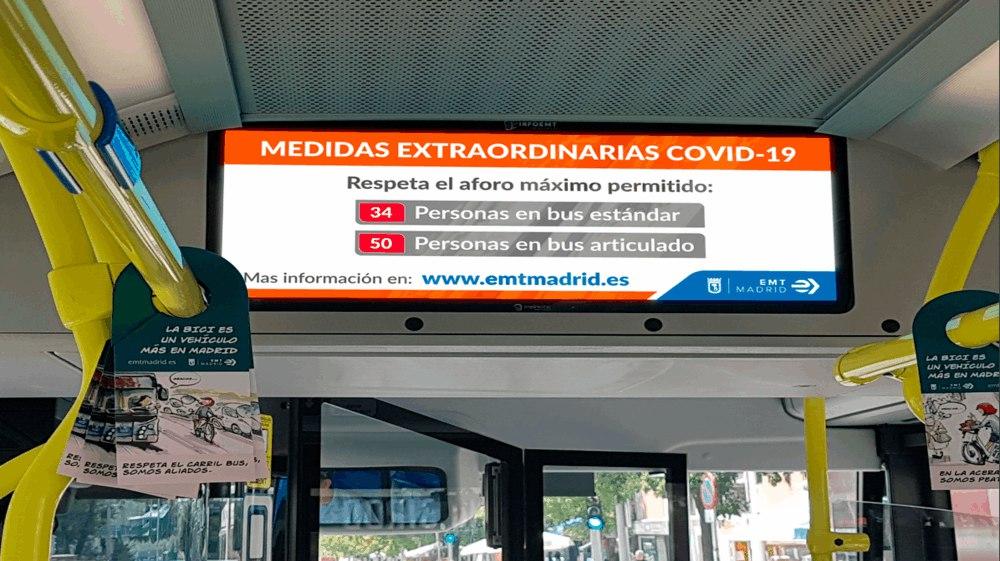 Sistema embarcado de información al viajero DENEVA para EMT Madrid
