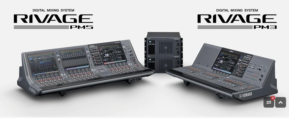 mesas de mezcla digital PM5 y PM3