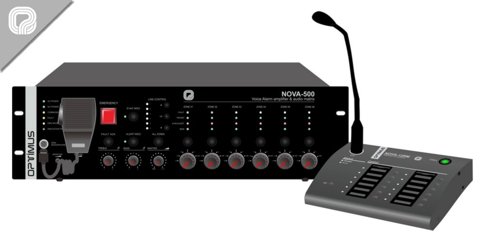 sistema de megafonía y alarma por voz NOVA system