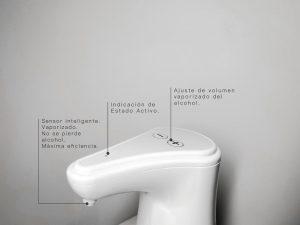 dispensadores automáticos de alcohol por vaporización de Aurum IIII