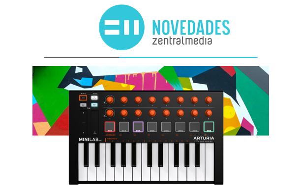 Controlador MIDI portátil Arturia Minilab MKII Orange Edition edición limitada