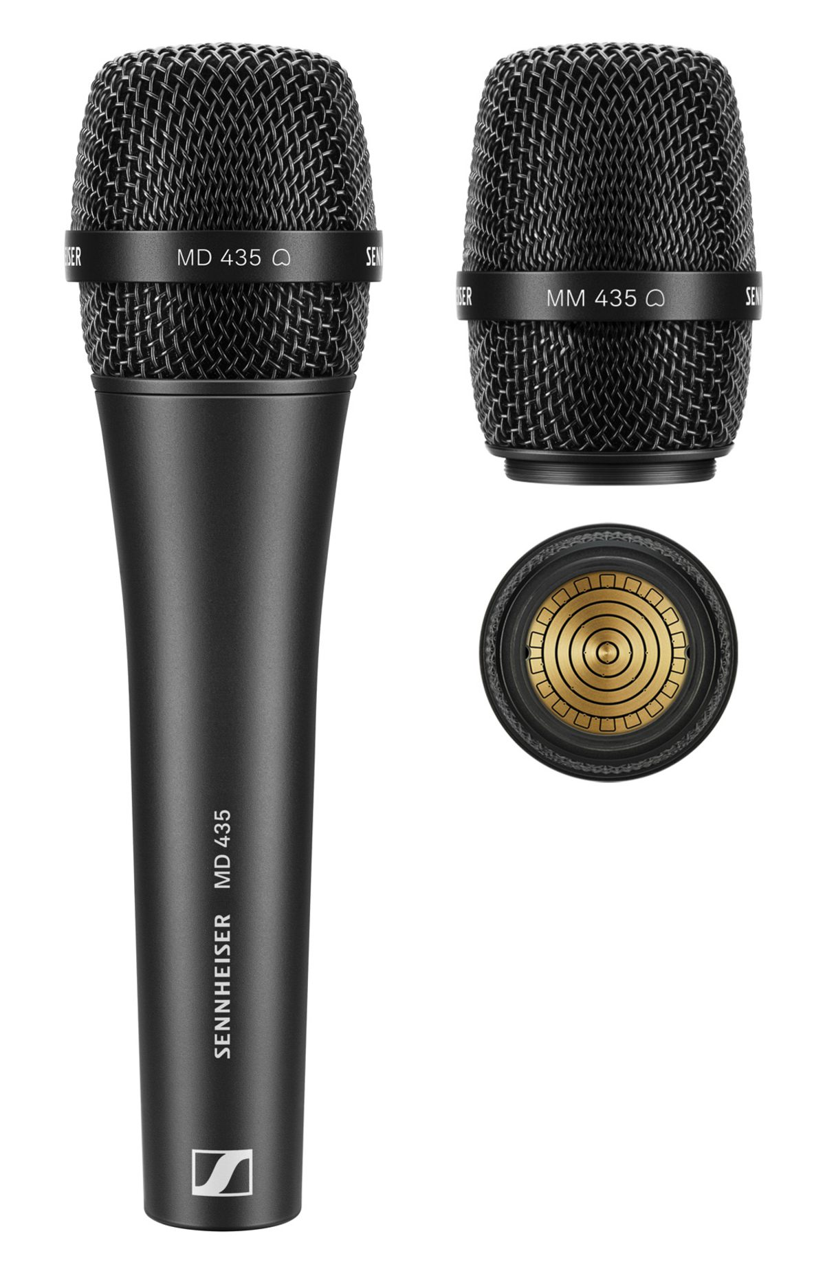 Micrófono vocal cardioide MD 435 alámbrico y cápsula MM 435 de Sennheiser