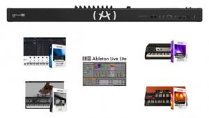 Teclado controlador híbrido de 88 teclas Arturia Keylab 88 MKII Black Edition