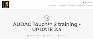Seminario sobre el nuevo AUDAC Touch 2.4
