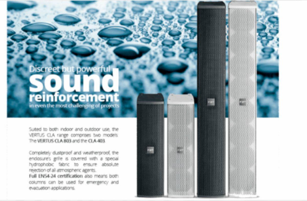 Columnas Line-Array VERTUS CLA de FBT