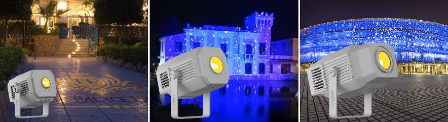 Proyectores de imágenes para aplicaciones arquitecturales Mosaico de Prolights