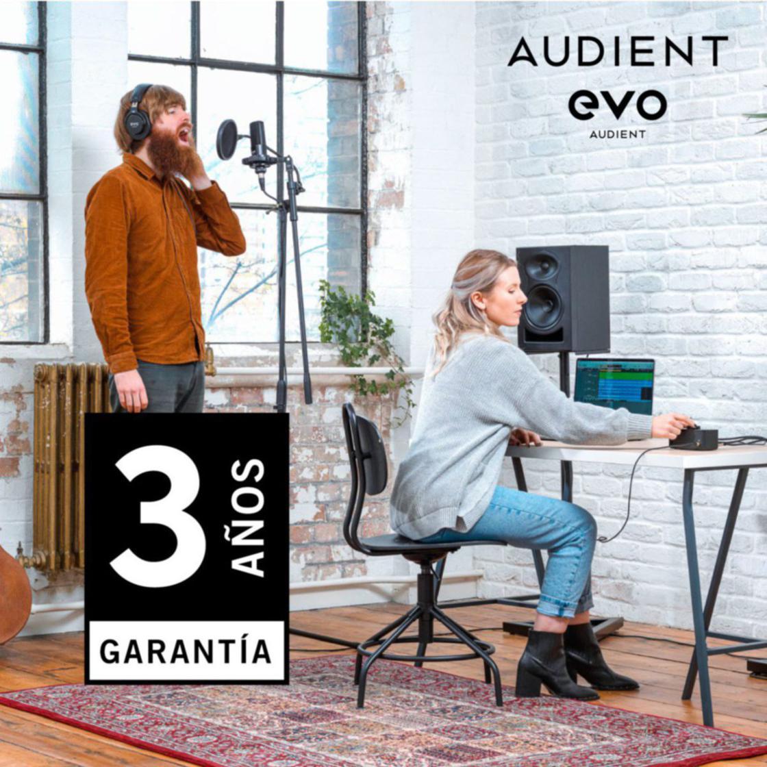 Garantía de Audient ampliada a tres años