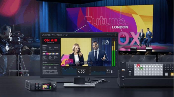 solución de transmisión autónoma Blackmagic Web Presenter HD