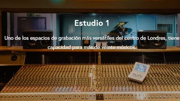 estudio de grabación profesional