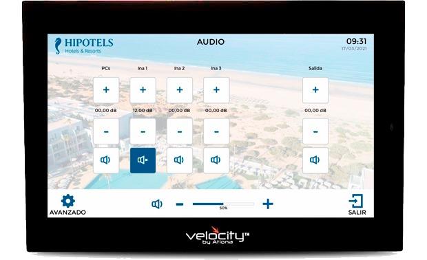 instalación del sistema de control audiovisual Velocity