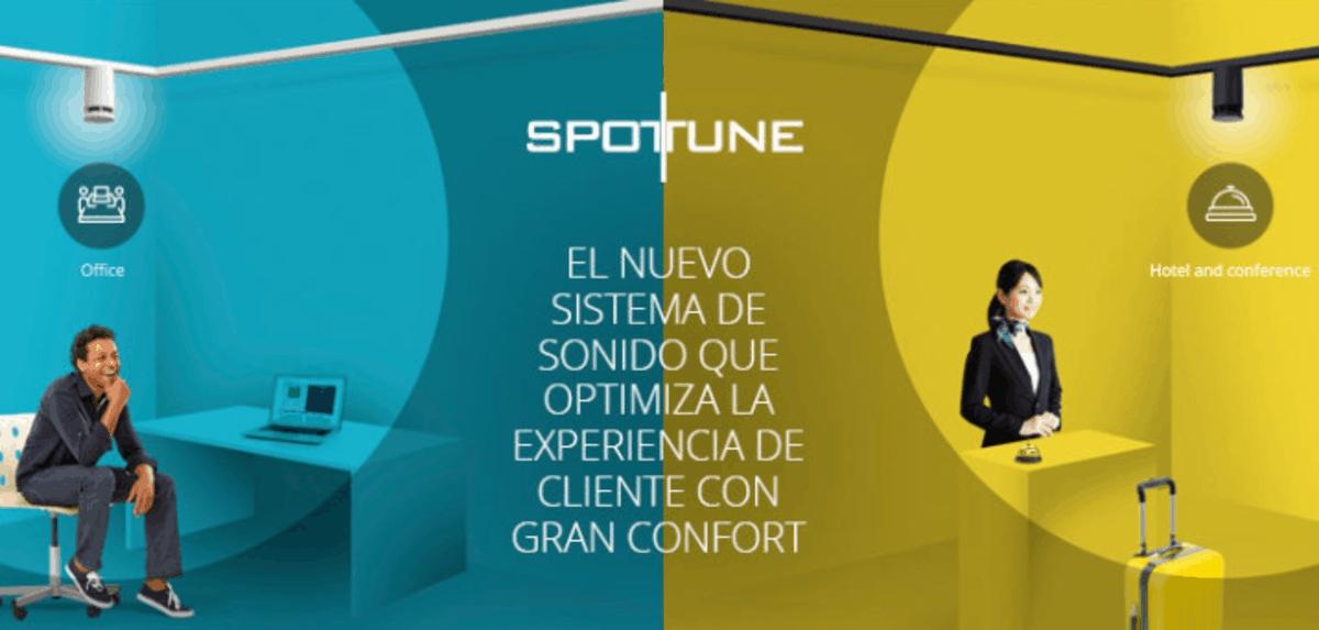 equipos de sonido profesional para instalaciones Spottune