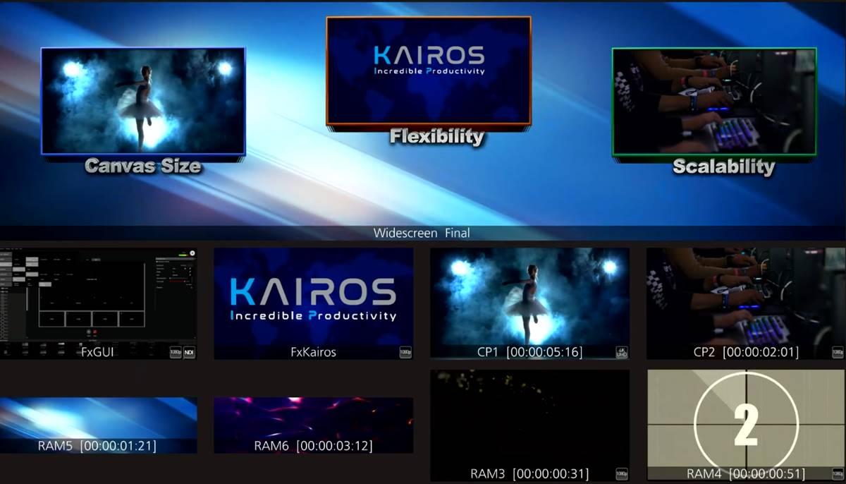 Actualización de software de producción de vídeo para directo de KAIROS Core 1000