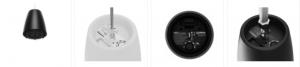 Atavoces colgantes para instalación de sonido en espacios comerciales DesignMax