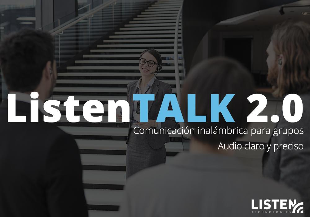 sistema de comunicación inalámbrico ListenTALK