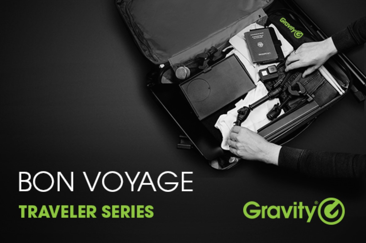 Serie Traveler de Gravity soportes trípodes para músicos y creadores de contenidos