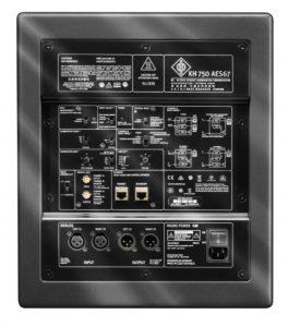 nuevo sistema de monitorización con el subgrave kh-750 para redes AES67 de Neumann