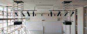 instalación de proyectores profesionales y cámaras
