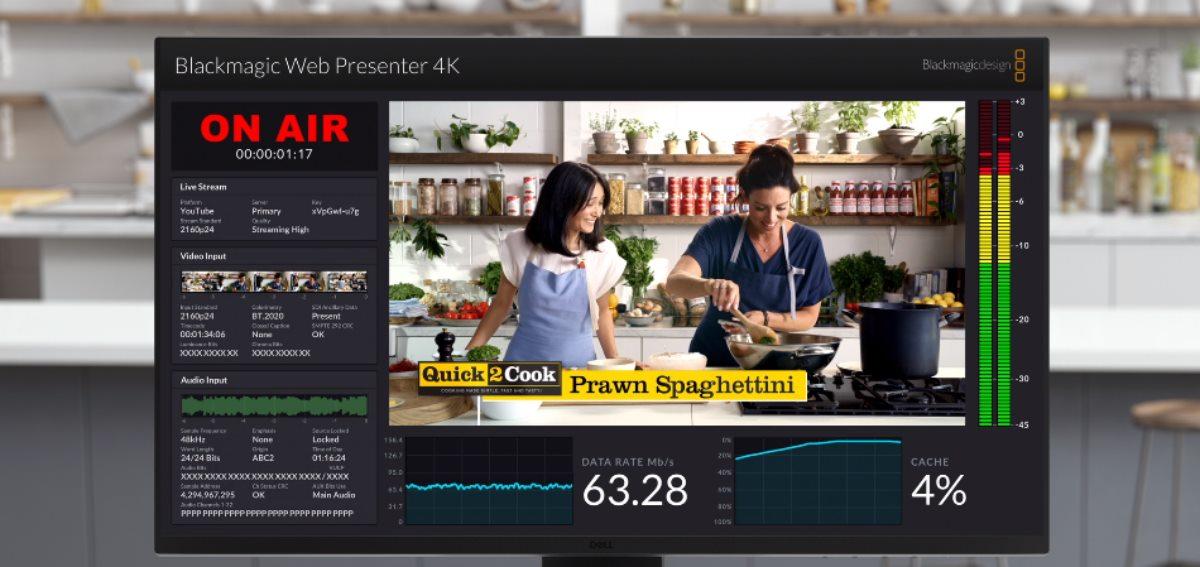 Blackmagic Web Presenter 4K de Blackmagic Design