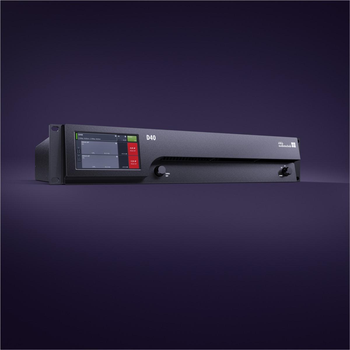 Amplificador móvil de cuatro canales D40