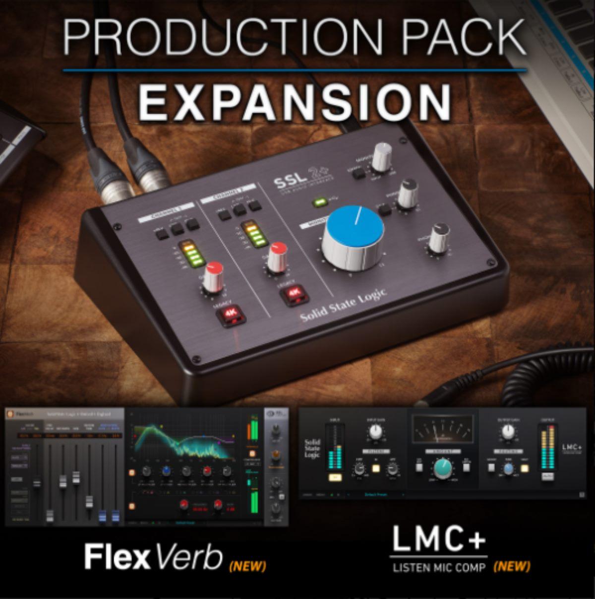 Promoción de SSL Production Pack Expansion, FlexVerb y LMC+