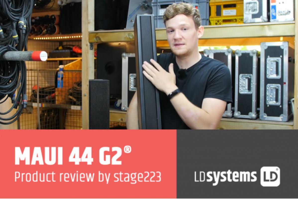 sistema de megafonía de columna MAUI 44 G2 de LD Systems