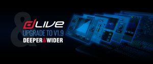 Actualización del firmware del sistema de mezcla insignia de Allen & Heath dLive V1.9